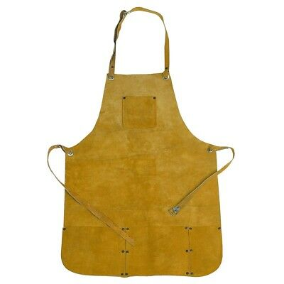 Apron Split Leather Protectine Clothing Gardening Welding Carpentry