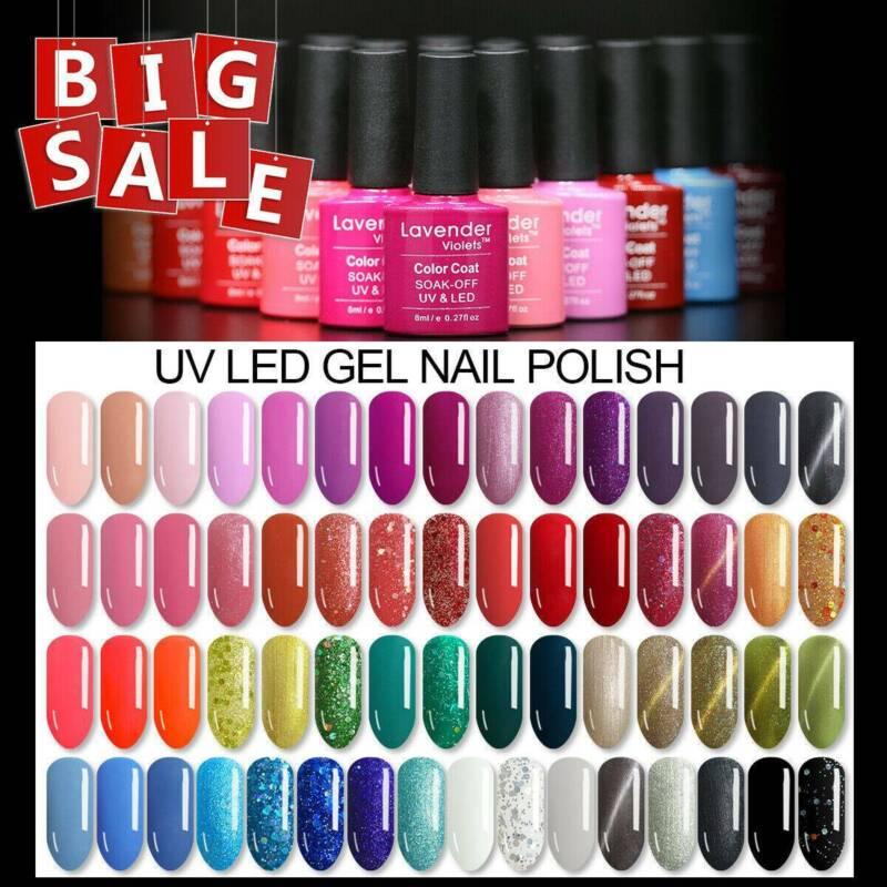 UV LED Nail Gel Polish Soakoff Varnish Base Top Color Coat 8