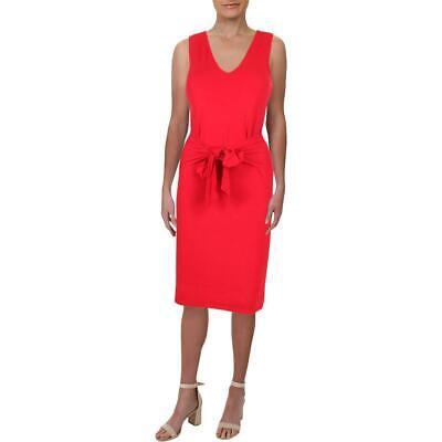 Lauren Ralph Lauren Womens Agita Tie-Front V-Neck Casual Mini Dress BHFO 7434