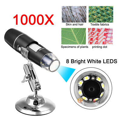 1000x Wire Microscope Camera Magnifier Usb Digital For Iphone Android Mac Widows