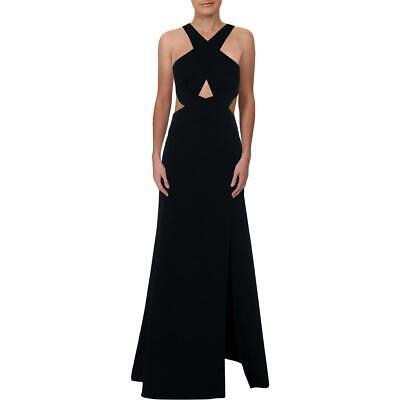 BCBG Max Azria Womens ` Navy Halter Full Length Evening Dress Gown 8 BHFO 1334