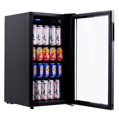 120 Can Beverage Refrigerator Mini Fridge Beer Wine Soda Drink Cooler Glass Door