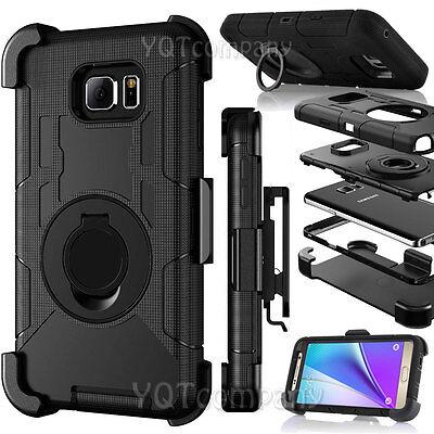Samsung Galaxy S7 Edge Case Hard&Soft Rubber Hybrid Armor Impact Defender Cover