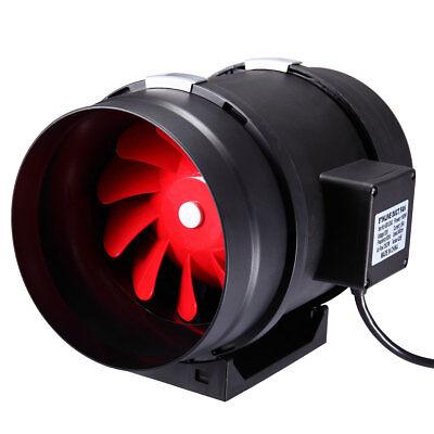 "8"" inch Inline Duct Plastic Booster Fan Ventilation Air Blower  735CFM"