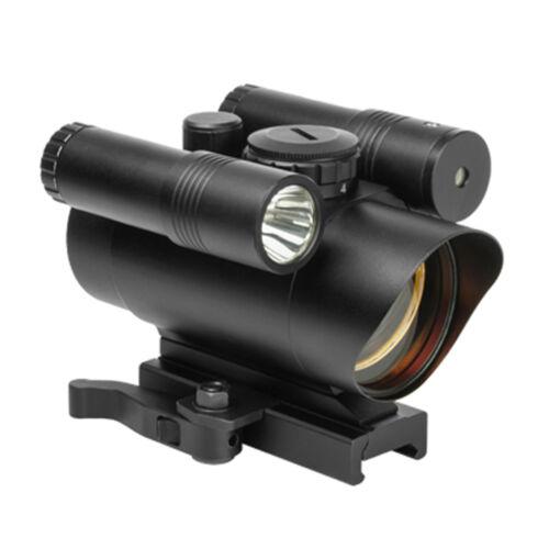 VISM VDFLGQ142  Red Dot Sight/Green laser LED Flashlight, Bl