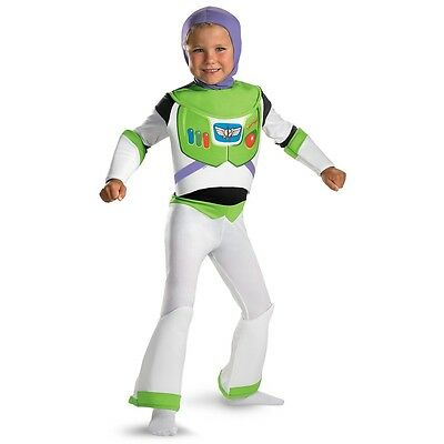 Buzz Lightyear Costume for Kids Deluxe Disney Toy Story Halloween Fancy Dress - Disney Buzz Costume