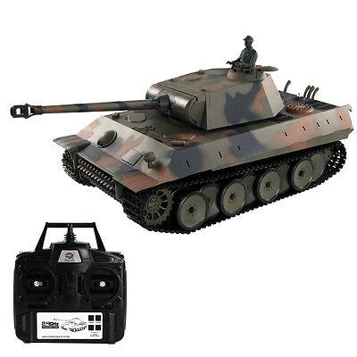 1:16 2.4G Remote Control German Panther RC Battle Tank Smoke & Sound New