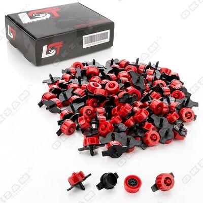 100x Micro Dripper Mini Tropfer Garten Bewässerung druckreguliert rot 4L/h  (Roter Pool Tube)