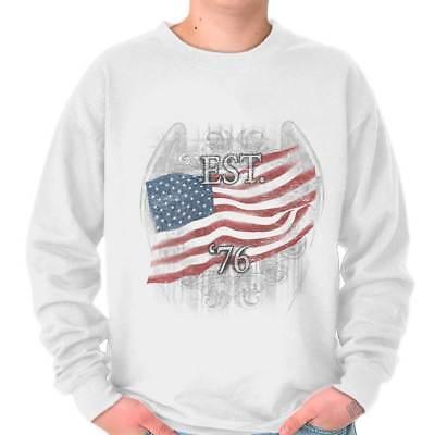 American Flag Sweatshirt (American Flag USA Patriotic United States Crewneck Sweat Shirts Sweatshirts)
