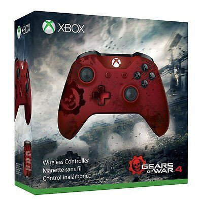 Xbox Wireless Controller - Gears of War 4 Crimson Prognostic Limited Edition NEW