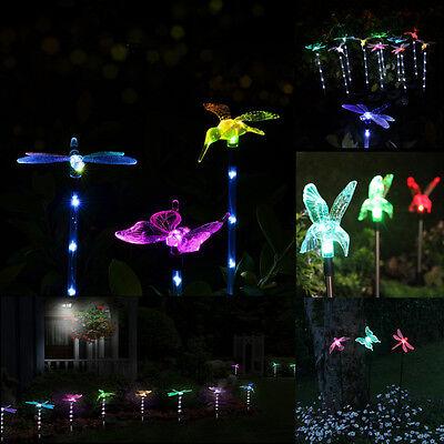 LED Solaire Papillon Lumière Lampe Pour Jardin Pelouse Paysage Extérieur Décor