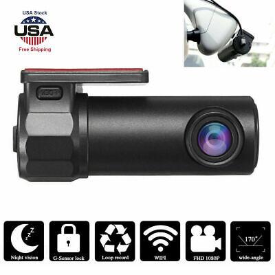 Wireless Wifi Hidden Car DVR Camera Dash Cam 1080p HD G-Sensor Video Recorder US