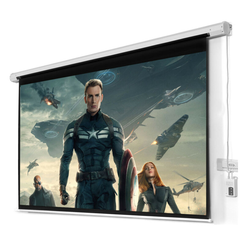 "New 100"" 16:9 HD Foldable Electric Motorized Projector Screen"