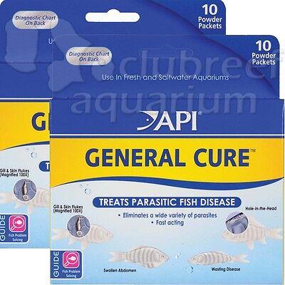 - 2 General Cure Powder FW & SW Aquarium Anti-Parasitic Fish Treatment API Powder