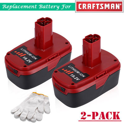 2 Pack 19 2V 4 0Ah C3 Xcp Lithium Ion Battery For Craftsman 11375 110 Ht