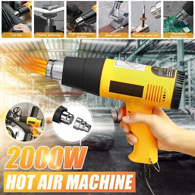2000w Electric Hot Air Blower Heat Gun Dual Temperature Adjustablemouthpiece