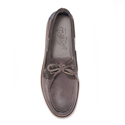 Sperry Gold Cup Men Size 9 Gray 2-Eye Leather Boat Shoes