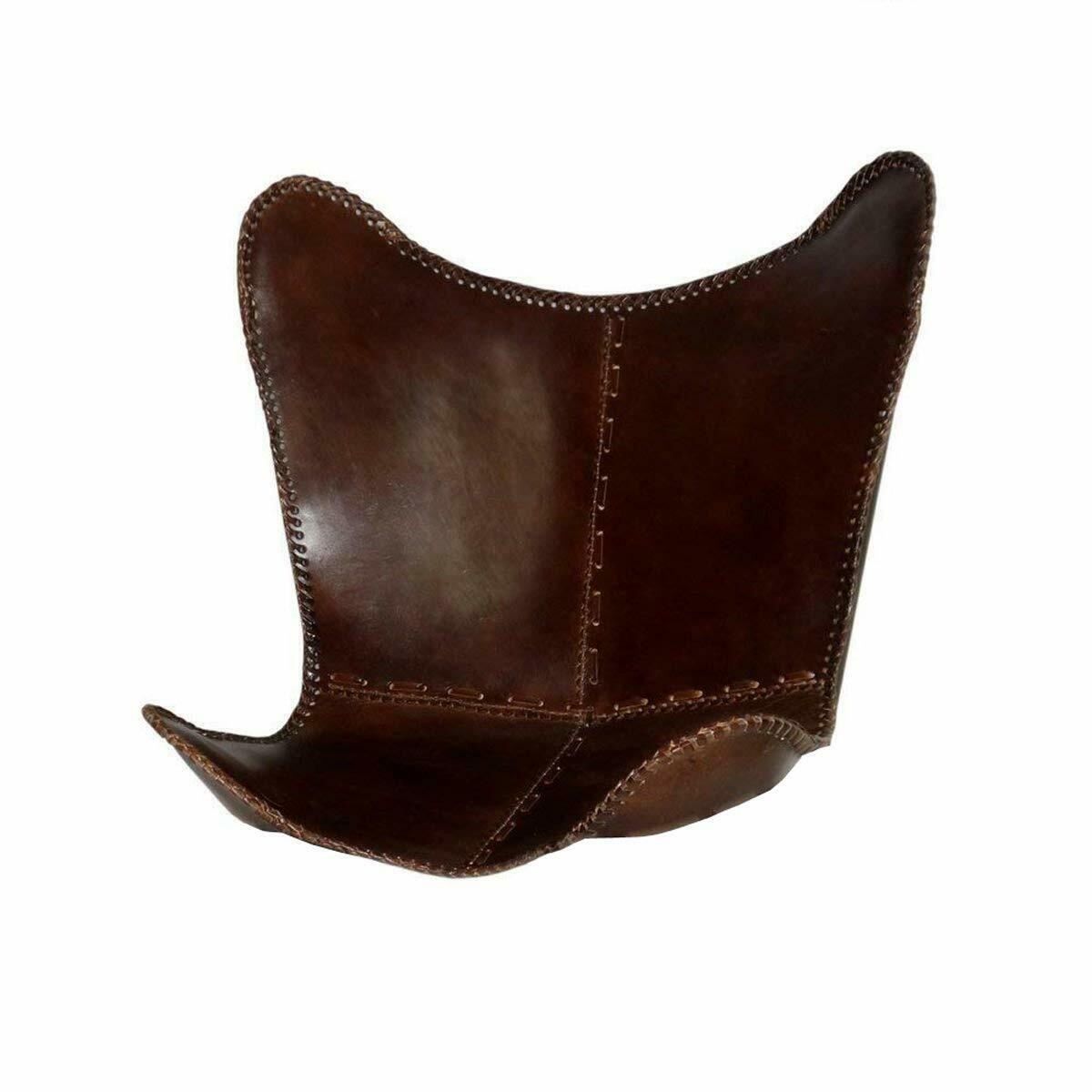 Vintage Leather Butterfly Chair Brown Leather Butterfly Cove