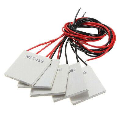 5 Pcs Tec1-12706 Heatsink Thermoelectric Cooler Cooling Peltier Module 12v 72w