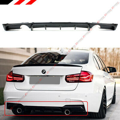 FOR 2012-18 BMW F30 F31 M SPORT MP STYLE DUAL EXHAUST TIP REAR BUMPER DIFFUSER