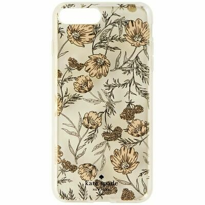 Kate Spade Hybrid Case for iPhone 8 Plus 7 Plus Clear / Pink Blossoms / Gems