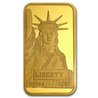 20 gram Gold Bar - Credit Suisse Statue of Liberty - SKU #46777