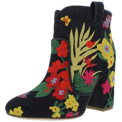 Laurence Dacade Womens Pete Blue Denim Booties Shoes 36 Medium (B,M) BHFO 8882