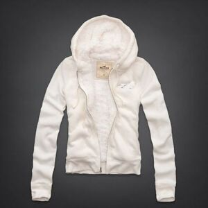 Hollister by Abercrombie Womens NWT Arrow Point Sherpa Lined Shine Hoodie Jacket