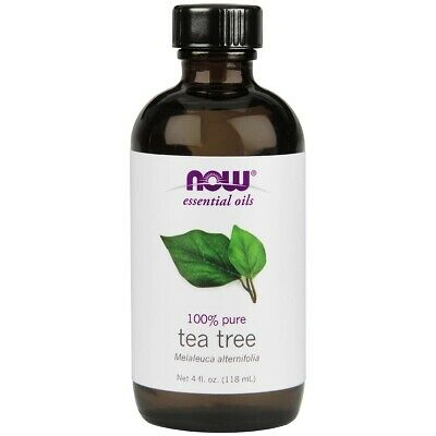 NOW 100% Pure Tea Tree Essential Oil 4 oz, FRESH, Made In USA