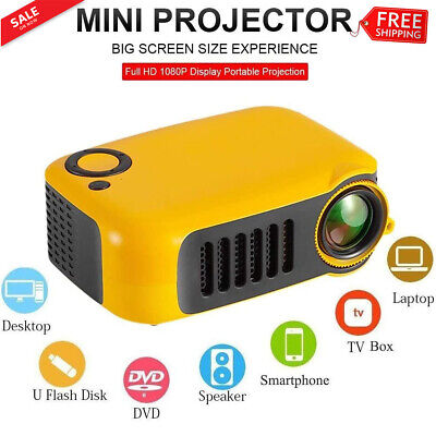 Mini Pocket Home Theater Projector 3D HD LED Cinema 1080P AV USB HDMI SD Gift UK