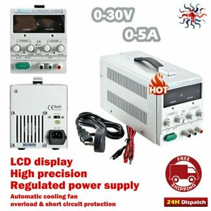 High Precision 0-30V 0-5A DC Bench Regulated Power Supply Variable Linear Lab