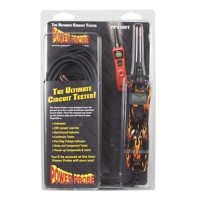 Power Probe III Circuit Tester, Fire, Clam Shell PPRPP3CSFIRE Brand New!