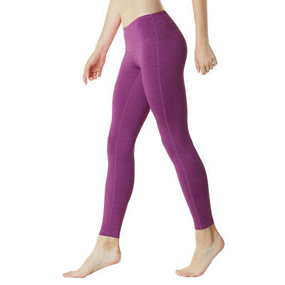Tesla FYP41 Women's Mid-Waist Ultra-Stretch Yoga Pants - Hea