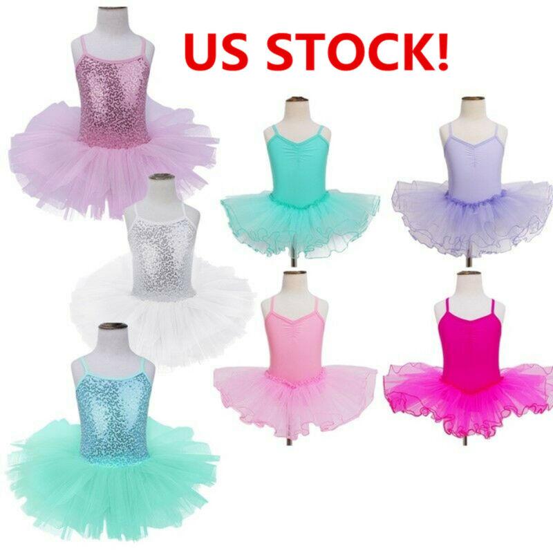 Toddler Girls Ballet Leotard Tutu Skirt Ballerina Dress Skat