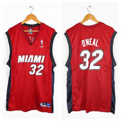 Reebok NBA Miami Heat #32 O'Neal Men's Red Black Jersey Size L