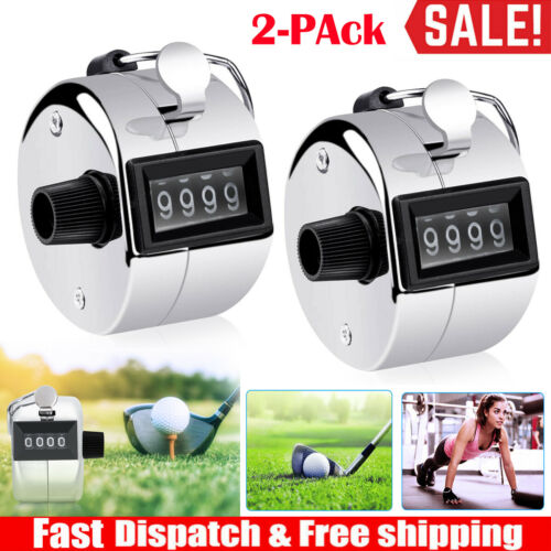4 Digit Handheld Number Hand Click Golf Counter Portable Tally Counter Clicker