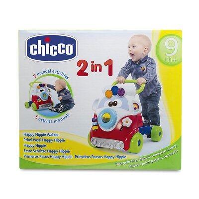 Gioco Primi Passi Happy Hippy Chicco 5905 Pulmino 4 Ruote x Imparare a Camminare