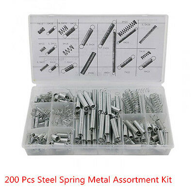 200 x Electrical Hardware Extension Tension Pressure Metal Steel Springs Kit Set