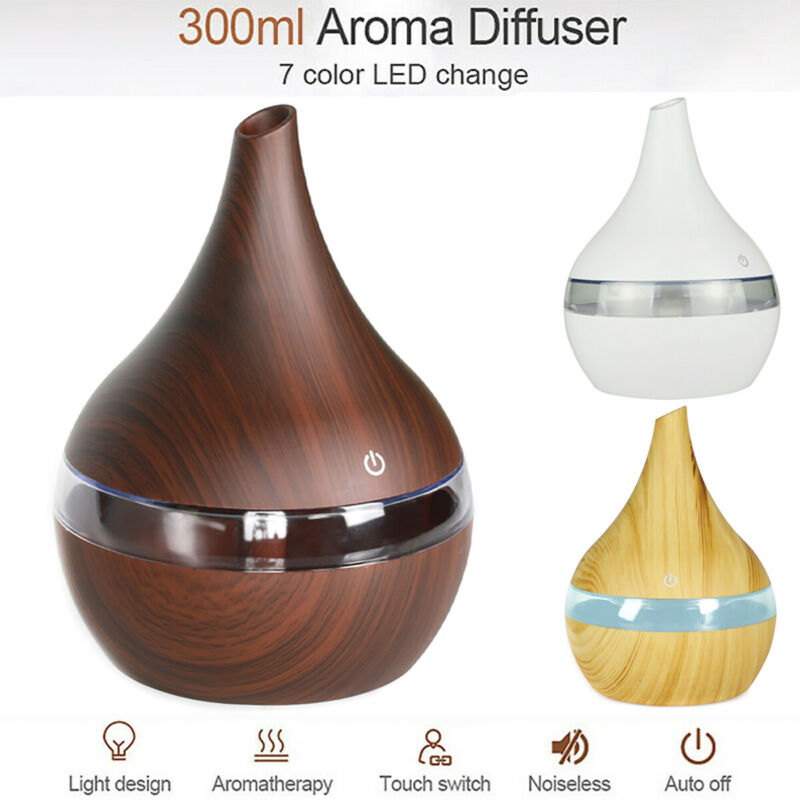 300ml Aromatherapy Essential Oil Diffuser Ultrasonic Cool Mi