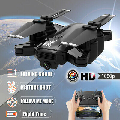 1080P Wifi RC HD Camera Drone  Hunt down Me Aircraft Foldable Quadcopter Selfie FPV