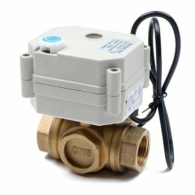 12 3 Way Motorized Ball Valve Brass L Type Electric Valve 9v 12v 24v 36v Dcac