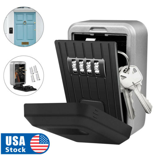 USA 4-Digit Combination Password Key Lock Storage Case Box Home Outdoor Security