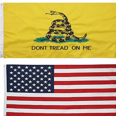 3' X 5' 3x5 USA Flag American Flag Don't Tread on Me Flag WHOLESALE LOT Combo