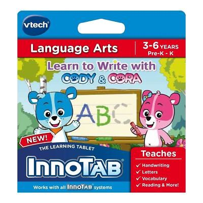New VTech InnoTab Cody & Cora Game Handwriting Learning Tablet Official