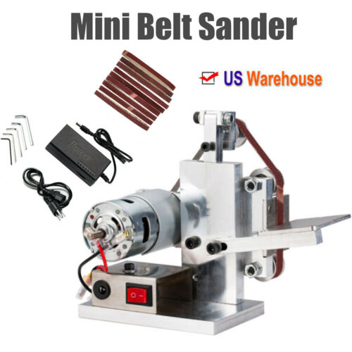 AC110V DIY Mini Belt Sander Knife Apex Edge Sharpener Polish