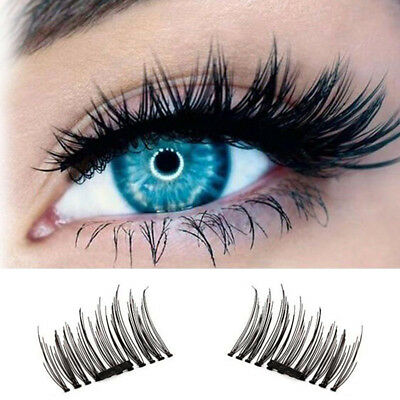12 Pcs  3 Set Magnetic 3D False Eyelashes Natural Eye Lashes Extension Handmade