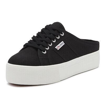 Superga 2284 Cotu Womens Black / White Trainers Ladies Sport Casual Shoes