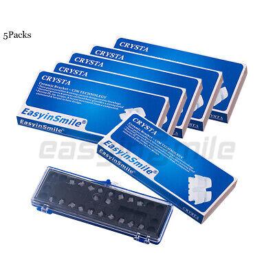 Easyinsmile 5packs Dental Orthodontic Ceramic Mini Bracket Braces Mbtroth .022