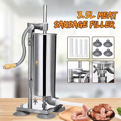 3.5l Manual Sausage Stuffer Filler Meat Making Machine Stainless Steel Food Make