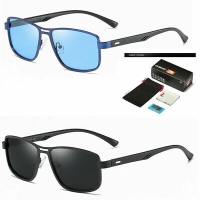 Square Frame Aviator Sunglasses Retro Vintage Fashion Men Polarized Driving Usa